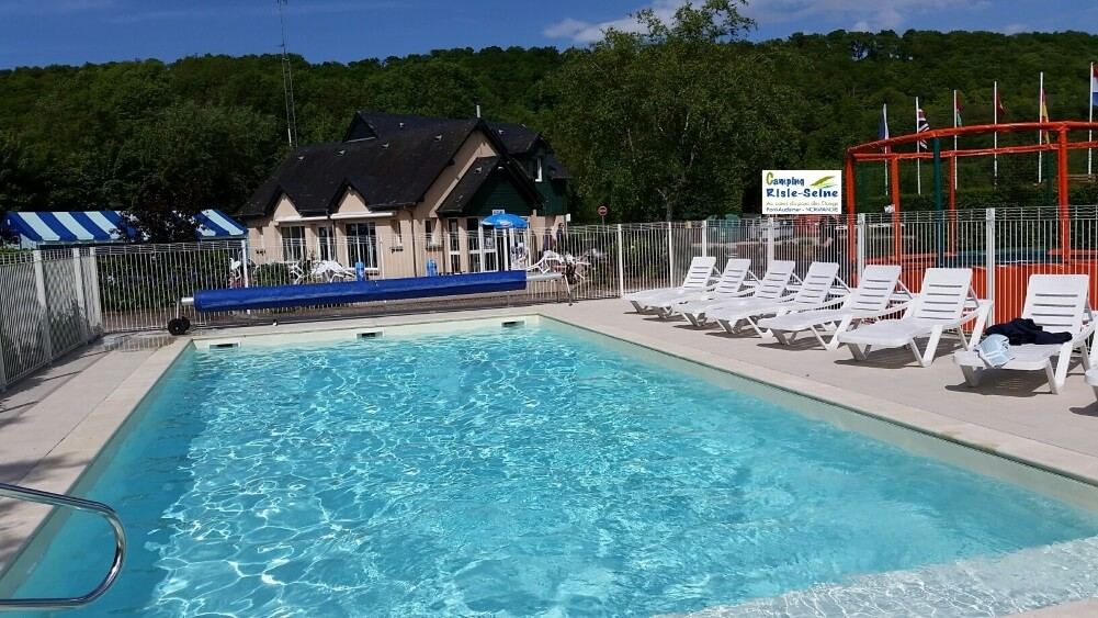 camping piscine chauffée Eure