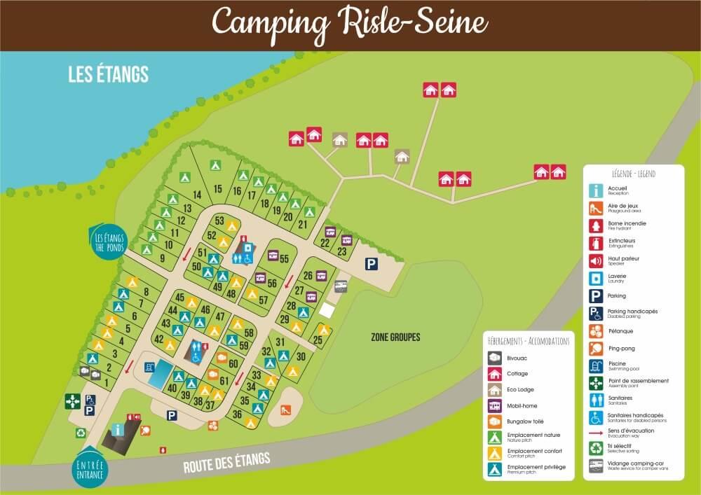 PLan 2018 du camping Risle Seine les Etangs