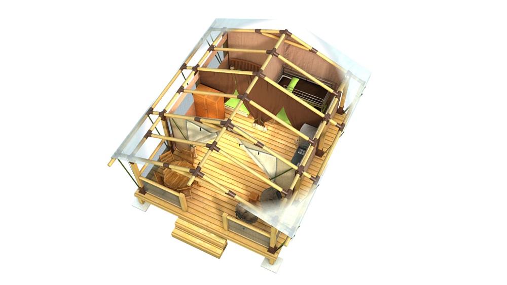 Plan intérieur eco lodge